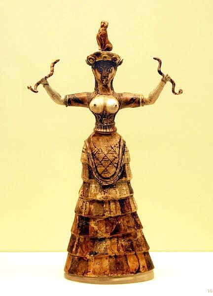 Heraklion: Slangengodin, een typisch Minoïsch beeldje