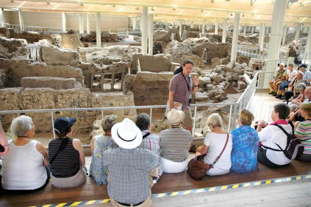 Santorini: de belangrijke opgraving van Akrotiri